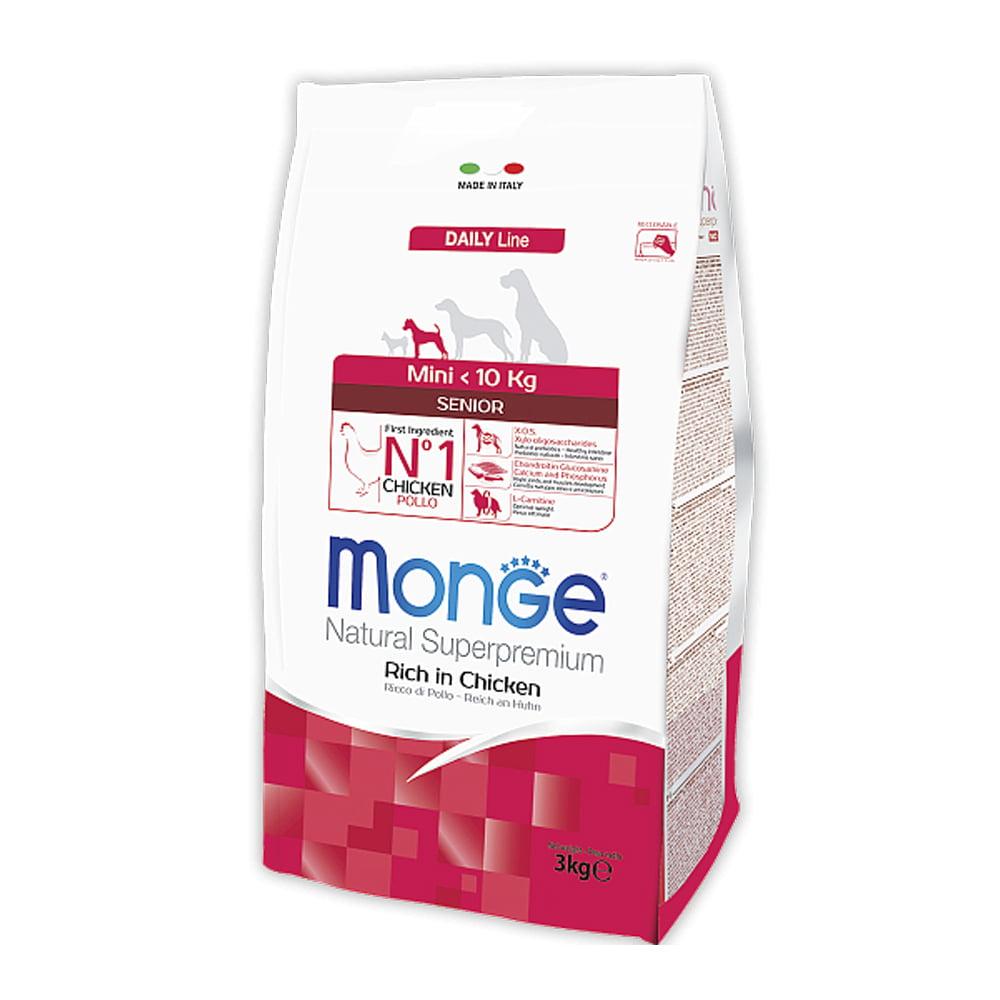 Monge Daily Line Mini Senior с курицей, 3кг/1163