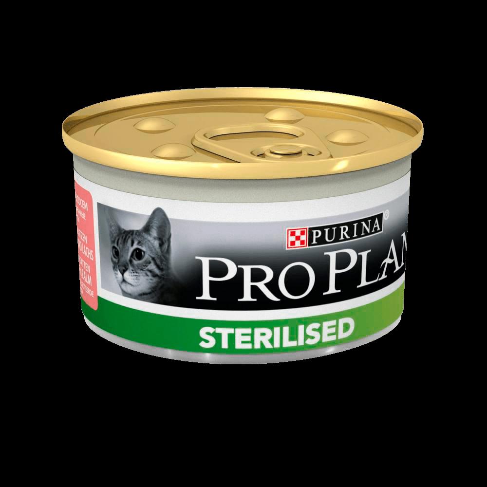 PRO PLAN STERILISED конс, с тунцом и лососем 85 гр.