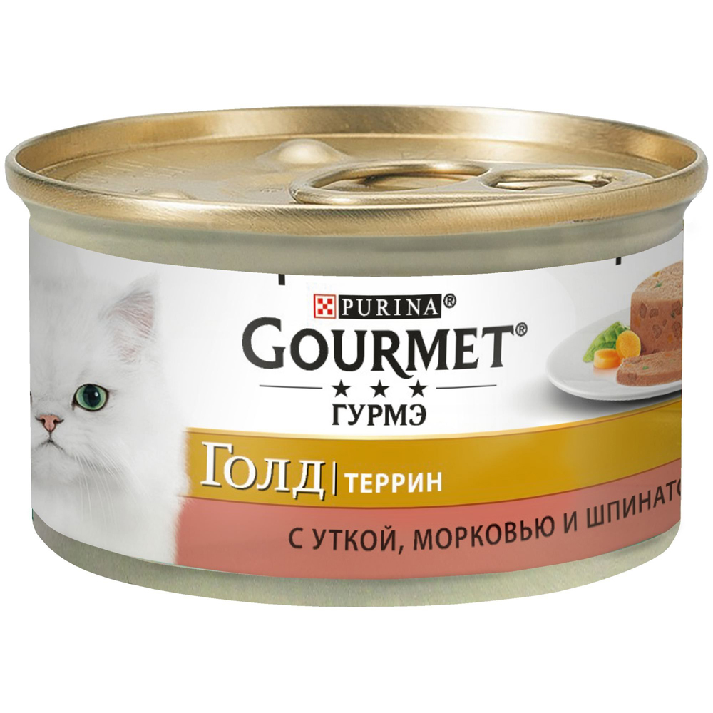 Gourmet Gold с уткой, морковью и шпинатом по-франц 85г