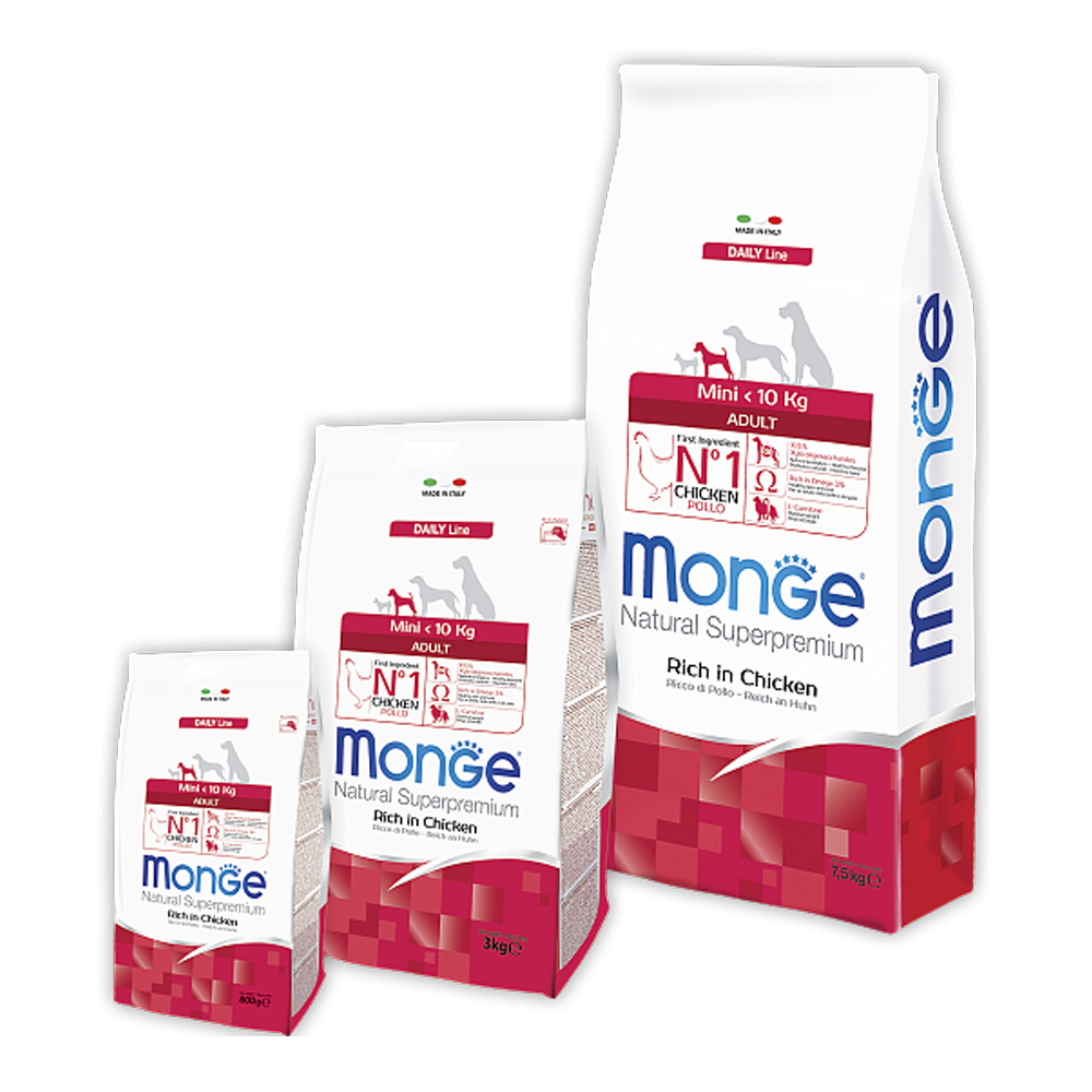 Monge Daily Line Mini Adult с курицей, 7,5кг/4053