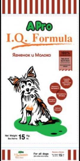 APRO I.Q. FORMULA Корм для щенков ягненок с молоком 15кг
