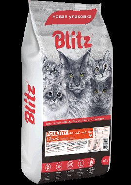 BLITZ Adult Cat Turkey, корм для кошек, 400г