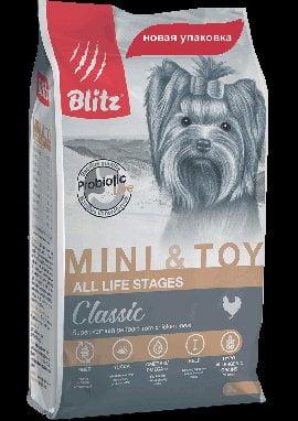 BLITZ Adult Mini & Toy, корм для собак миниатюрных и мелких пород, 500г