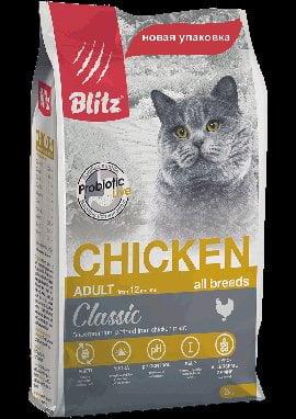 BLITZ Adult Cat Chicken, корм для кошек, 400г