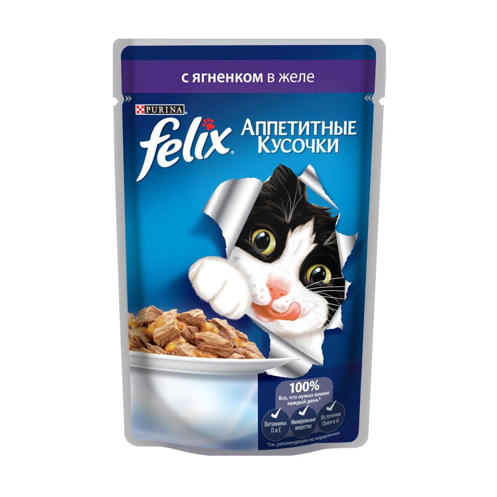 Felix с ягненком в желе 85г.