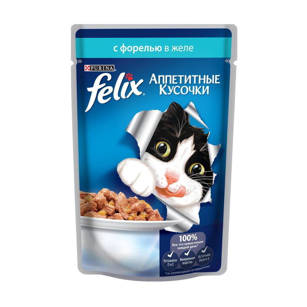 Felix с форелью в желе 85г.