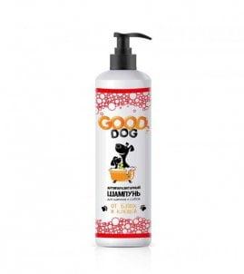 Шампунь Good Dog антипаразитный для щенков и собак от блох и клещей, 250 мл.