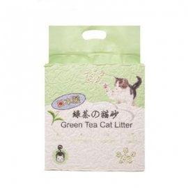 Наполнитель HAKASE AREKKUSU Зеленый чай биоразлагаемый комкующийся 6л