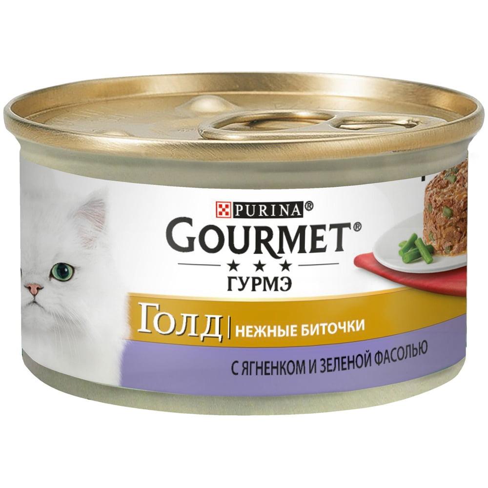 Gourmet Gold Биточки ягнёнок, фасоль 85г