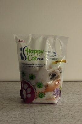 """Наполнитель Happy Cat """"силикагелевый"""", аромат лаванды 11л/5кг"""