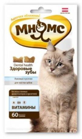 Зуб. Лакомство Дентал Мнямс д/кошек 60г