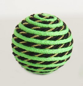 Мяч Лето Зеленый с люрексом д/кош. 5см
