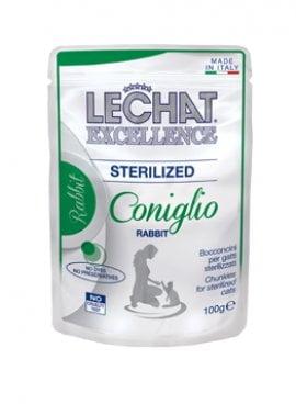 Lechat Sterilized пауч кусочки с кроликом, 100г/1773