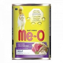 Me-O консервы для кошек, морепродукты, 400г