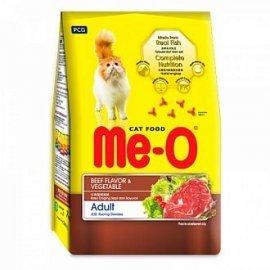 Me-O корм для кошек, говядина с овощами, 7кг