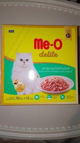 Me-O Delite пауч для кошек, тунец с курицей, 70г