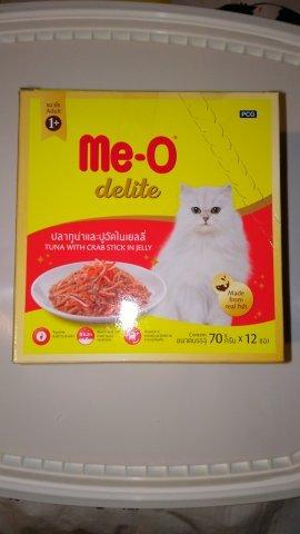 Me-O Delite пауч для кошек, тунец с крабом, 70г