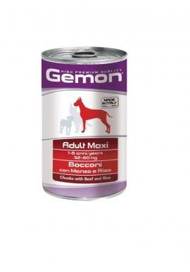 Gemon Dog Maxi конс. кусочки с телятиной, 1250г/8790