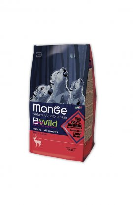 Monge BWild Puppy&Junior с олениной, 2кг/1184
