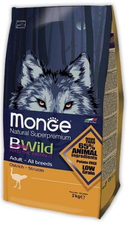 Monge BWild Adult с мясом страуса, 2кг/1182