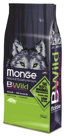 Monge BWild Adult с мясом кабана, 7,5кг/01181