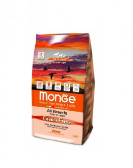 Monge Grain Free с уткой и картофелем, 2,5кг/4732