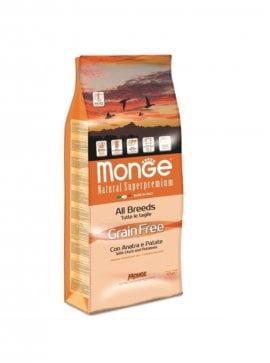 Monge Grain Free с уткой и картофелем, 12кг/4749