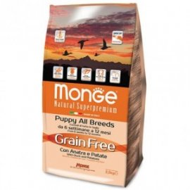 Monge Grain Free Puppy с уткой и картофелем, 2,5кг/4787