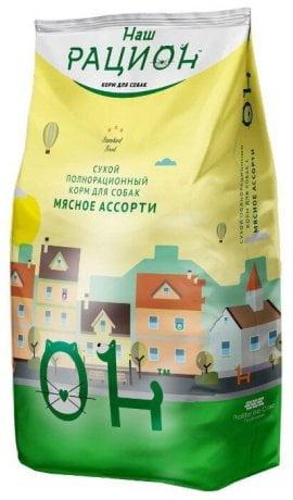 Сухой полнорационный корм для взрослых кошек мясное ассорти ТМ «Наш рацион» 1,5 кг