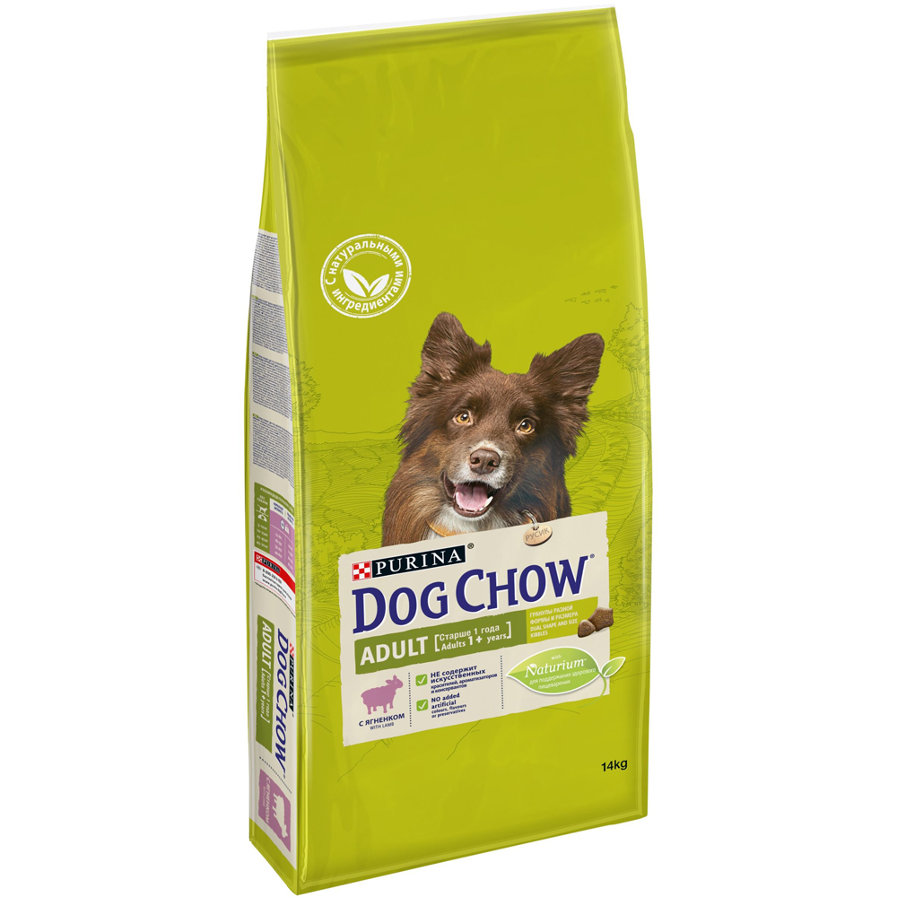 Dog Chow Adult с ягненком, 14кг