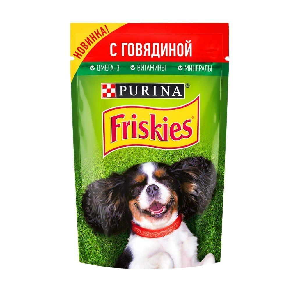Friskies для собак говядина 85г