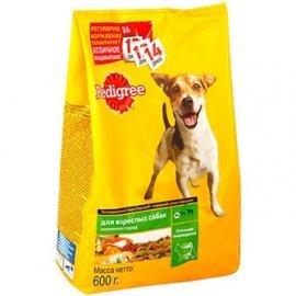 Pedigree для взрослых собак мелких пород говядина 600г