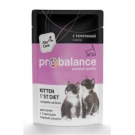 ProBalance пауч 1st Diet для котят с телятиной в желе, 85гр (1439)