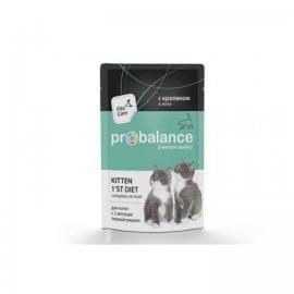 ProBalance пауч 1st Diet для котят с кроликом в желе, 85гр (2160)