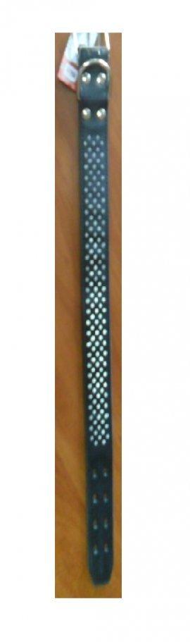Ошейник 0757К 1сл 36мм тиснение до 85см коричневый