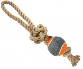 Игрушка Грейфер джутовый веревка с мячом, 32см (ГР842)