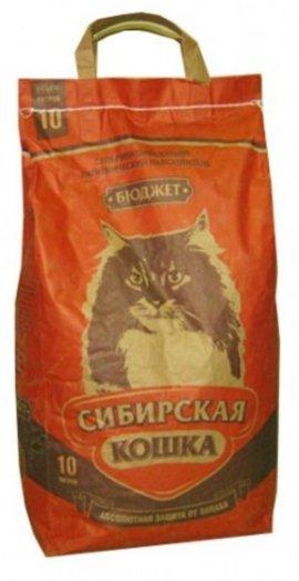 """Наполнитель Сибирская кошка """"Бюджет"""" впитывающий 10л"""