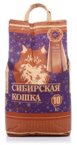 """Наполнитель Сибирская кошка """"Супер"""" комкующийся 10кг"""