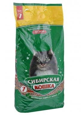 """Наполнитель Сибирская Кошка """"Лесной"""" древесный 7л"""