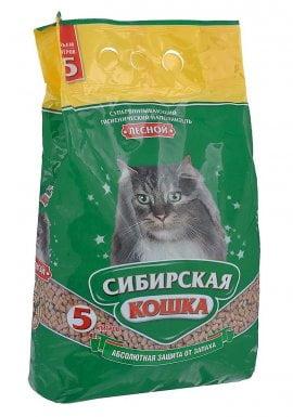 """Наполнитель Сибирская Кошка """"Лесной"""" древесный 5л"""