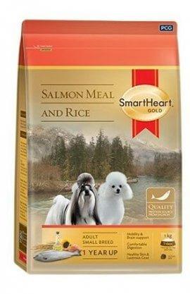 SMARTHEART GOLD корм для собак мелких пород, со вкусом лосося и риса, 7,5кг