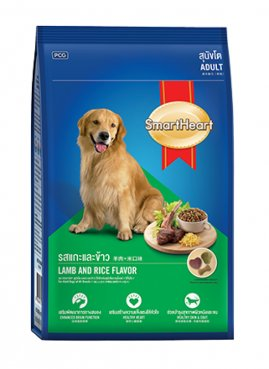 SMARTHEART корм для собак, со вкусом ягненка и риса, 500г