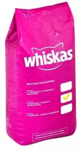 Whiskas подушечки, нежный паштет лос/тун/крев. 5кг