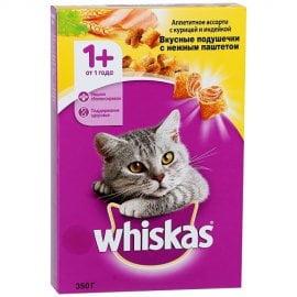 Whiskas подушечки нежный паштет для кошек кур/инд. 350Г