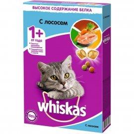 Whiskas подушечки нежный паштет для кошек лосось. 350Г