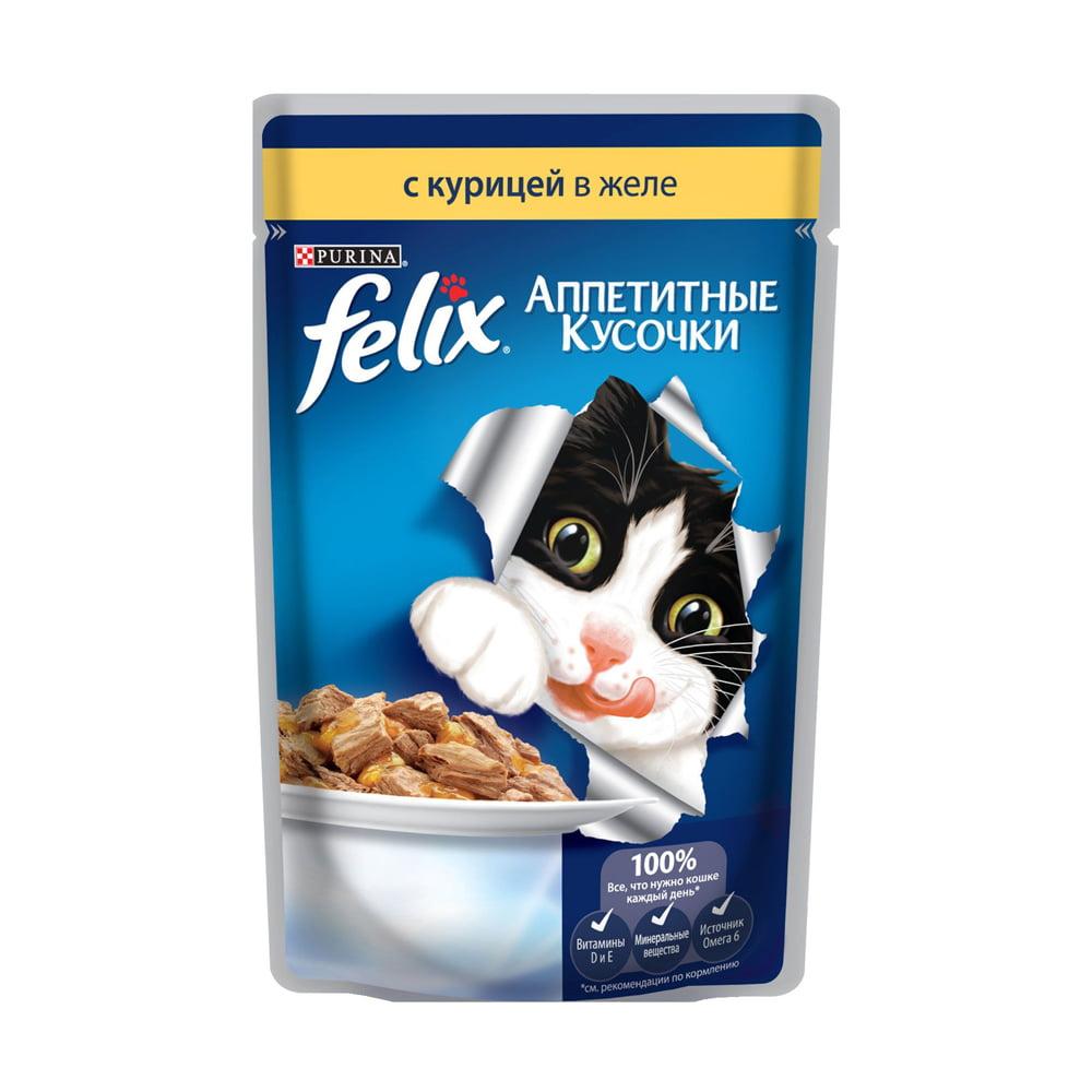 Felix с курицей в желе 85г.