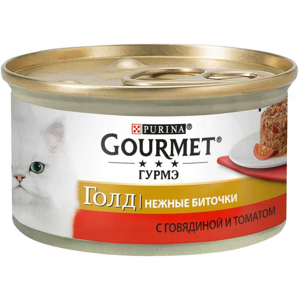 Gourmet Gold биточки с говядиной и томатом 85г