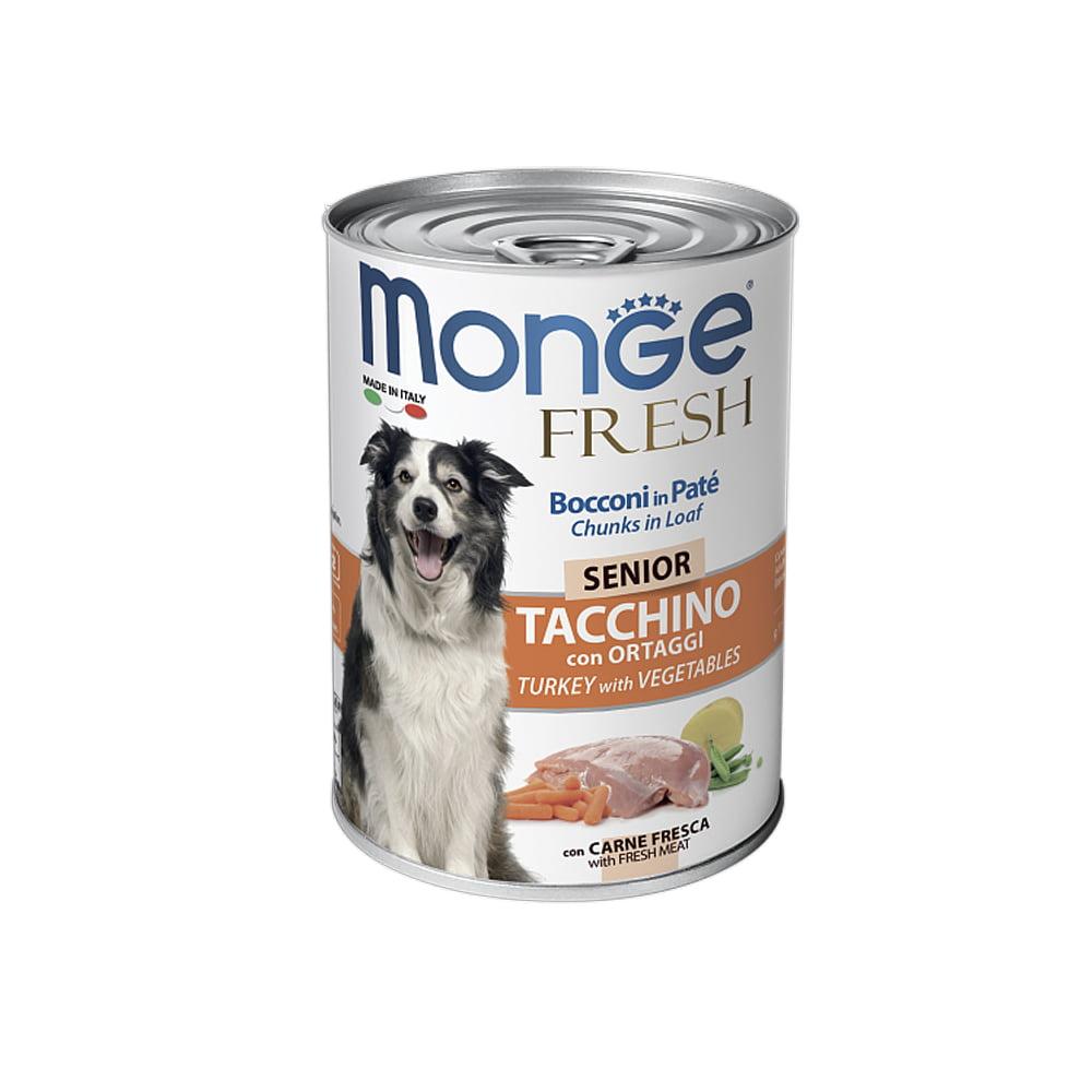 MONGE fresh Dog Senior 400гр Паштет для пожилых собак индейкаовощи/4489