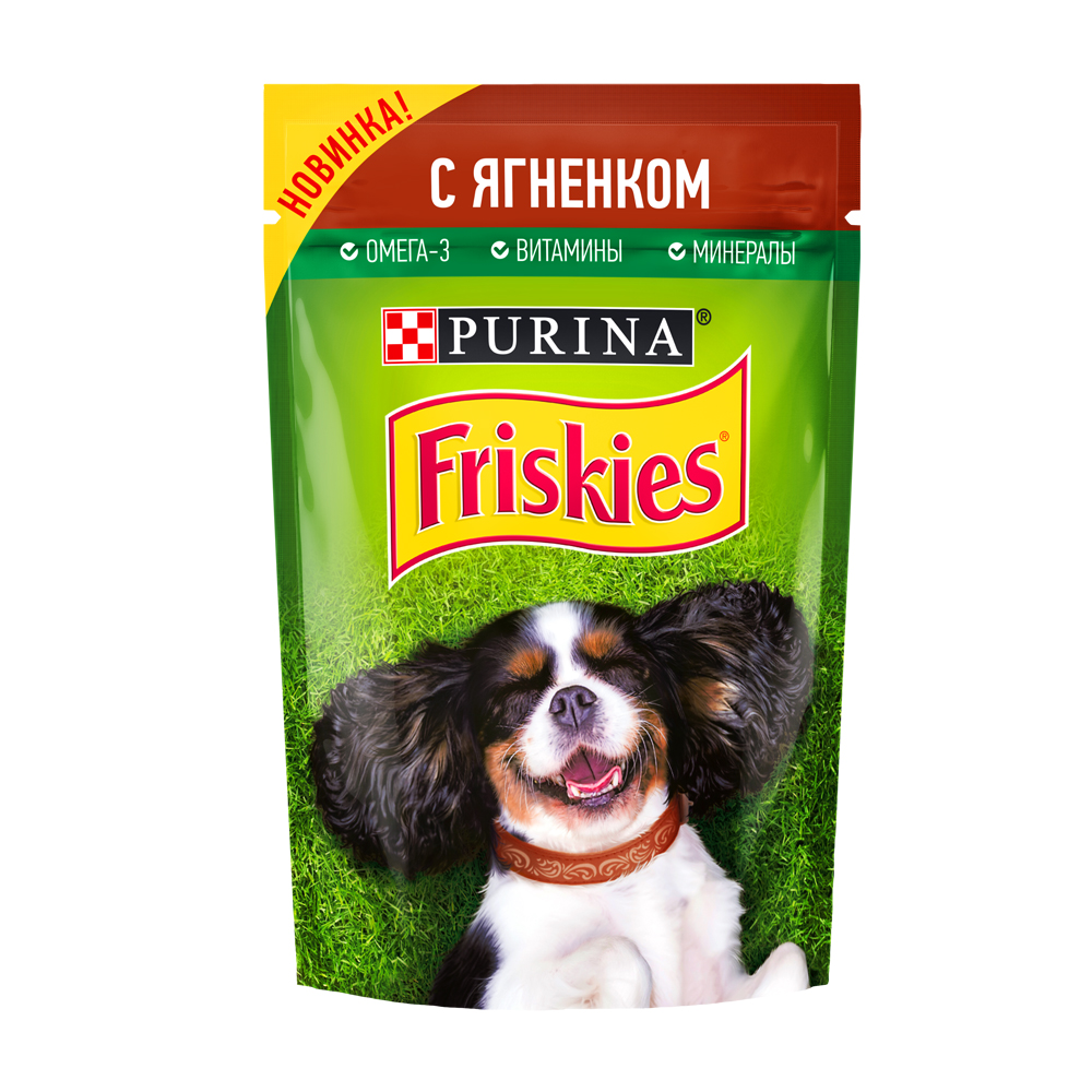 Friskies для собак с ягненком 85г