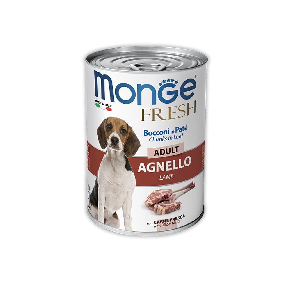 MONGE fresh Dog 400гр Паштет для взрослых собак с ягненком/4571